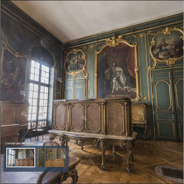 Panorama 3D du Salon Louis XV